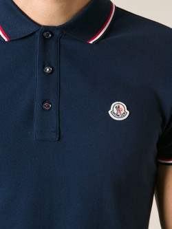 f196adfa75c70 Moncler Classic Polo Shirt in Blue for Men